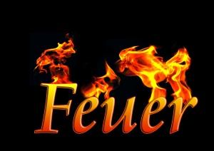 Feuer Typographie